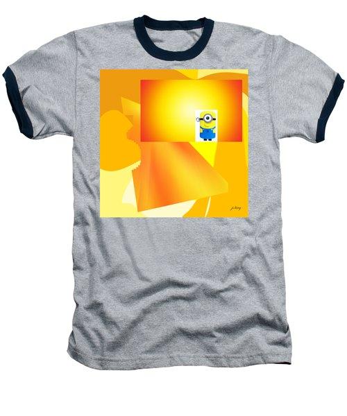 Hello Yellow Baseball T-Shirt by Jacquie King