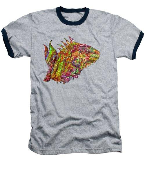 Iguana Hot Baseball T-Shirt by Carol Cavalaris
