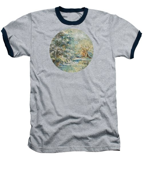 In The Snowy Silence Baseball T-Shirt by Mary Wolf
