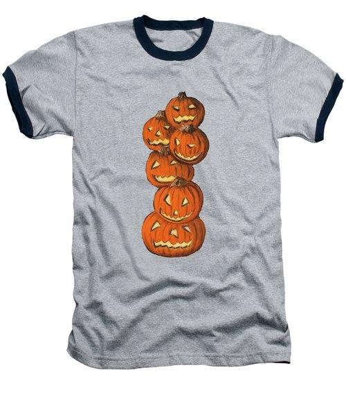 Jack-o-lantern Baseball T-Shirt by Anastasiya Malakhova