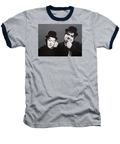 Laurel And Hardy Baseball T-Shirt by Paul Meijering