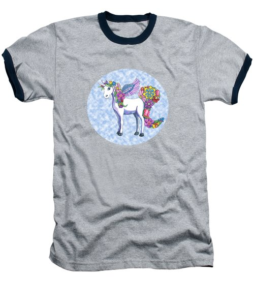 Madeline The Magic Unicorn 2 Baseball T-Shirt by Shelley Wallace Ylst