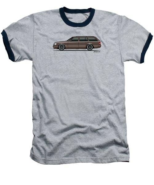 Mercedes Benz W124 E-class 300te Wagon - Anthracite Grey Baseball T-Shirt by Monkey Crisis On Mars