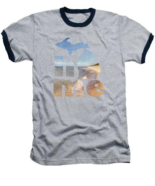 Michigan Home Baseball T-Shirt by Emily Kay