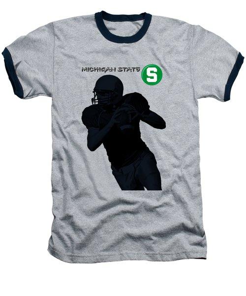 Baseball T-Shirt featuring the digital art Michigan State Football by David Dehner
