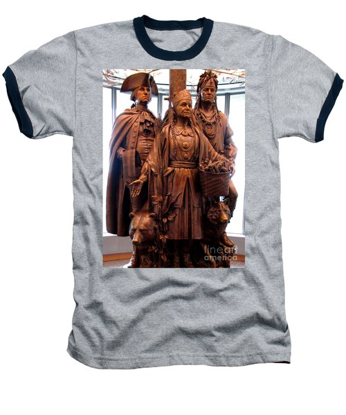 National Museum Of The American Indian 8 Baseball T-Shirt by Randall Weidner