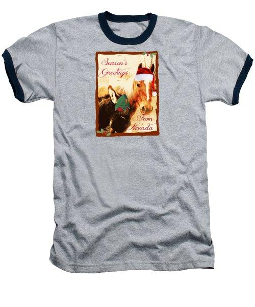 Nevada Greetings Baseball T-Shirt by Bobbee Rickard