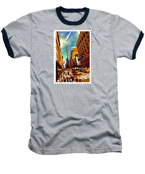 New York City Hustle Baseball T-Shirt by Elaine Plesser