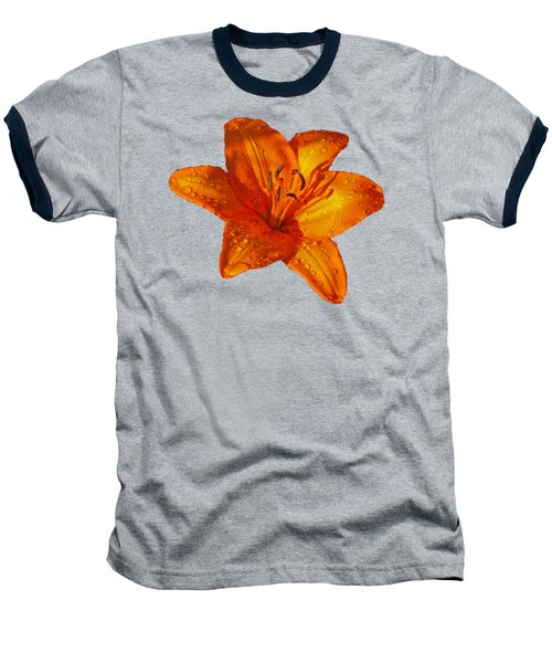 Orange Lily In Sunshine After The Rain Baseball T-Shirt by Gill Billington