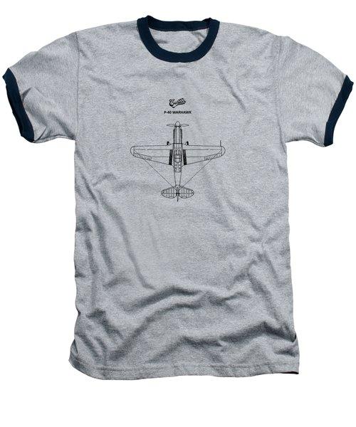 P-40 Warhawk Baseball T-Shirt by Mark Rogan