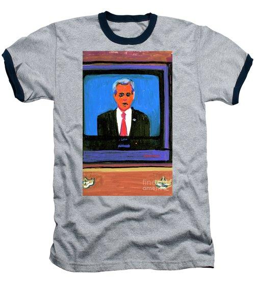 President George Bush Debate 2004 Baseball T-Shirt by Candace Lovely