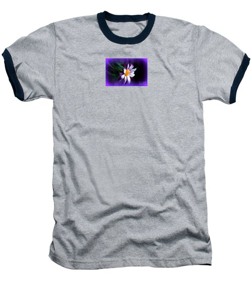 Baseball T-Shirt featuring the photograph Purple Daisy Flower by Susanne Van Hulst