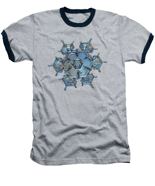 Baseball T-Shirt featuring the photograph Snowflake Photo - Flying Castle by Alexey Kljatov