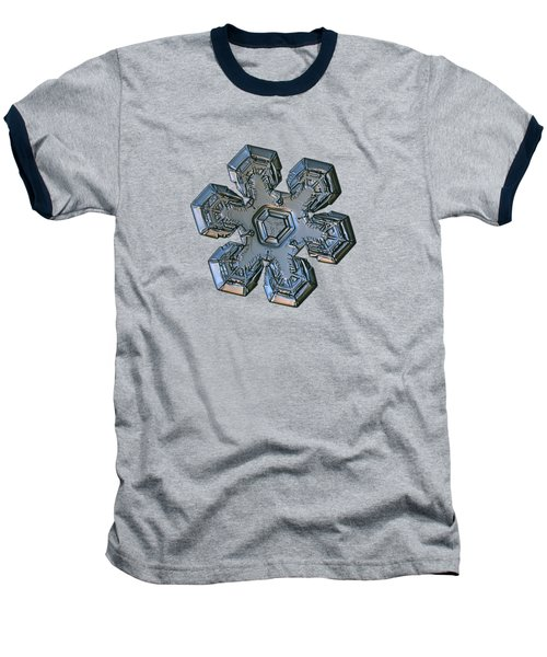 Baseball T-Shirt featuring the photograph Snowflake Photo - Massive Silver by Alexey Kljatov