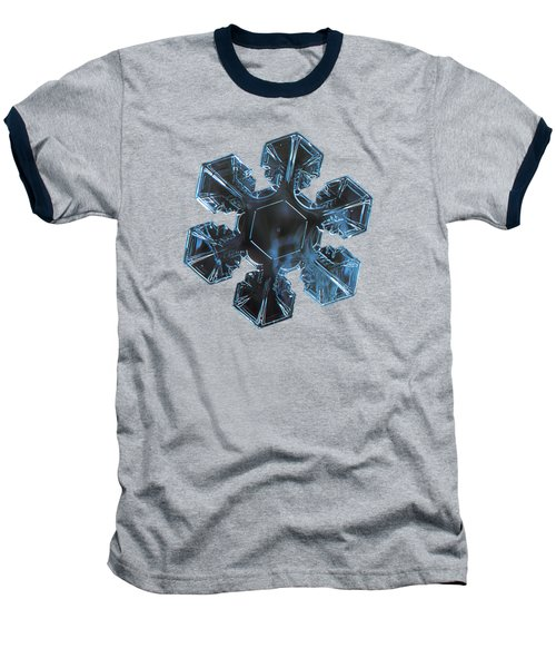 Baseball T-Shirt featuring the photograph Snowflake Photo - The Core by Alexey Kljatov