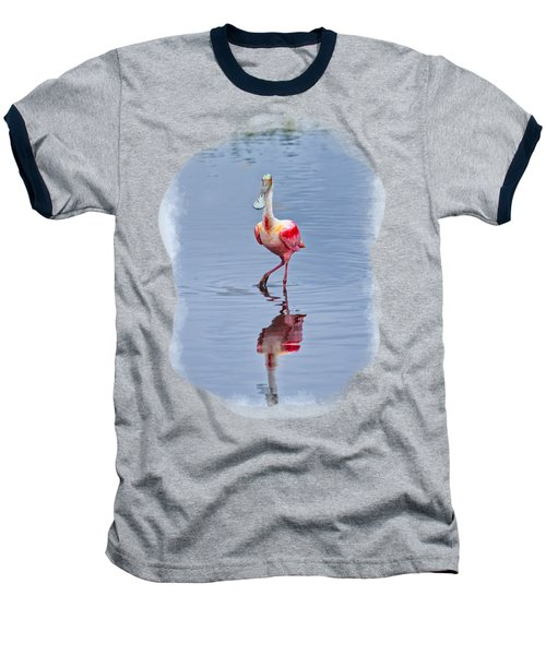Spoonbill 2 Baseball T-Shirt by John M Bailey