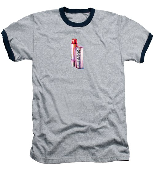 Sugar Rose Baseball T-Shirt by Willow Heath