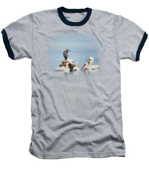 Support Group Baseball T-Shirt by Jai Johnson