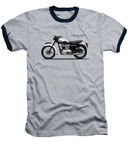 Triumph Tiger 1959 Baseball T-Shirt by Mark Rogan