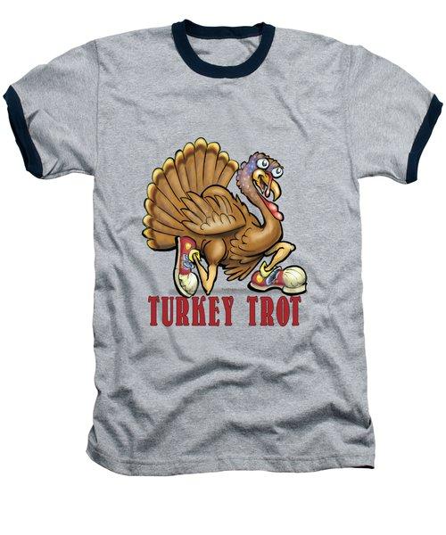 Turkey Trot Baseball T-Shirt by Kevin Middleton