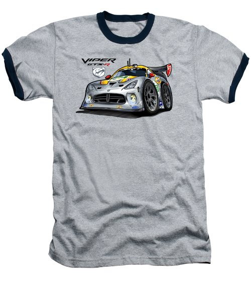 Viper Gts-r Car-toon Baseball T-Shirt by Steven Dahlen