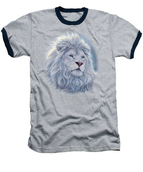 White Lion Baseball T-Shirt by Lucie Bilodeau