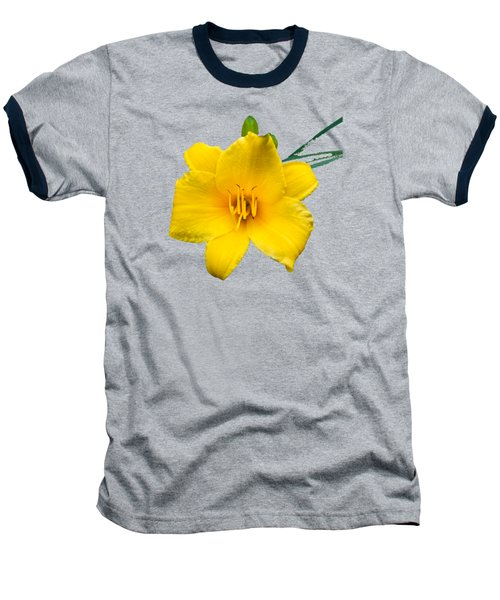 Yellow Daylily Flower Baseball T-Shirt by Christina Rollo