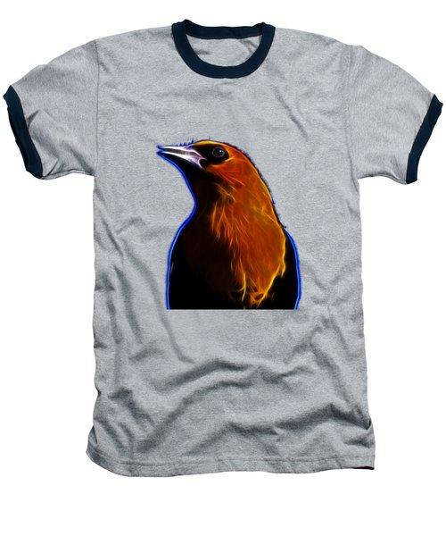 Yellow Headed Blackbird Baseball T-Shirt by Shane Bechler