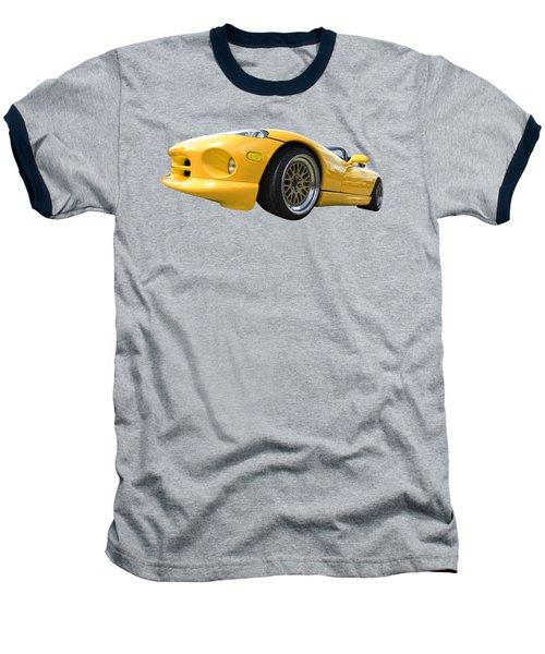 Yellow Viper Rt10 Baseball T-Shirt by Gill Billington