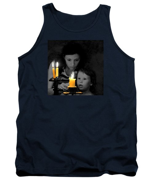 Tank Top featuring the photograph .  .  Light For Peace  .  . by I'ina Van Lawick