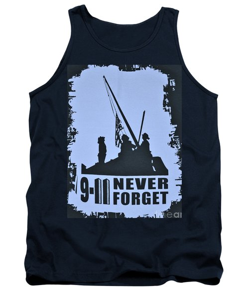 Tank Top featuring the photograph  911 Poster In Black And White by Bob Sample