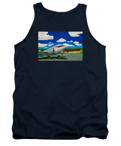 Portsmouth Ohio Airport And Lake Central Airlines Tank Top by Frank Hunter