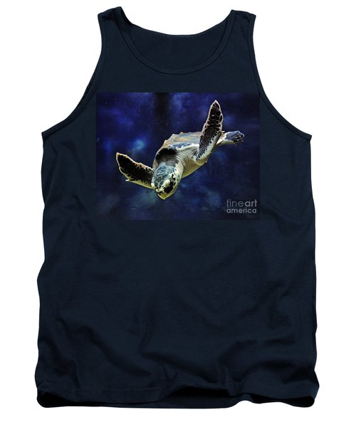Tank Top featuring the photograph  Sea Turtle by Savannah Gibbs