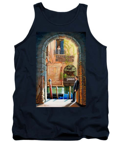 Thinking Of You Trattoria Sempione San Marco 578 Venezia Tank Top