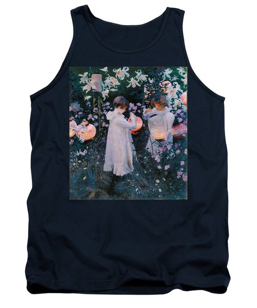 Carnation Lily Lily Rose Tank Top by John Singer Sargent