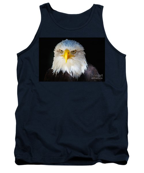 Closeup Portrait Of An American Bald Eagle Tank Top by Nick  Biemans