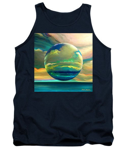 Tank Top featuring the digital art Clouding The Poets Eye by Robin Moline