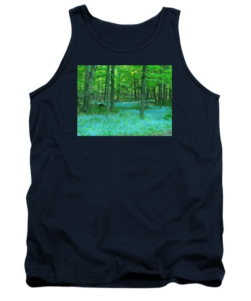 Forget-me-nots In Peninsula State Park Tank Top by David T Wilkinson