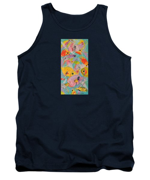 Tank Top featuring the painting Great Barrier Reef Fish by Lyn Olsen
