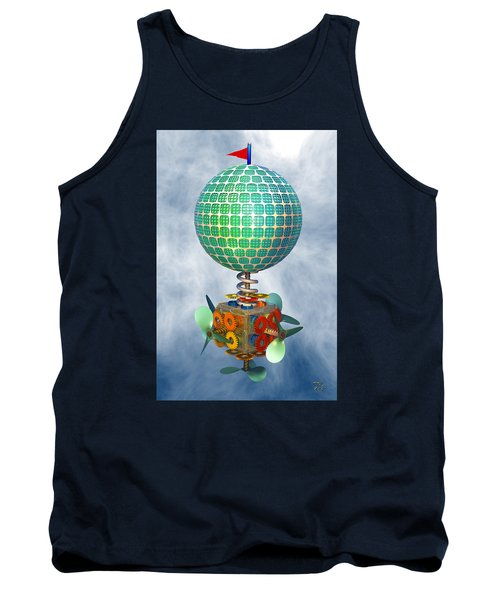 Tank Top featuring the digital art Improbability by Manny Lorenzo
