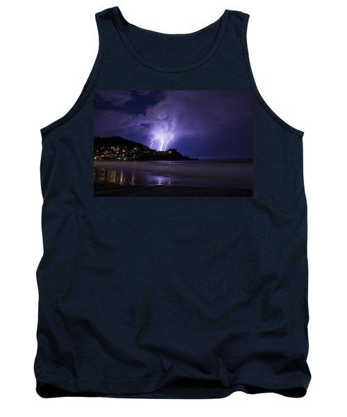 Lightning Over The Ocean Tank Top