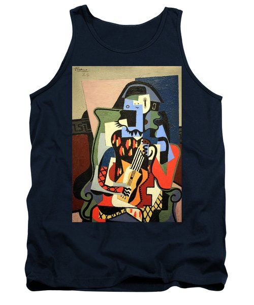 Picasso's Harlequin Musician Tank Top by Cora Wandel
