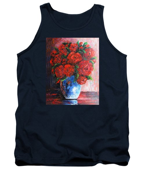 Tank Top featuring the painting Red Scent by Vesna Martinjak