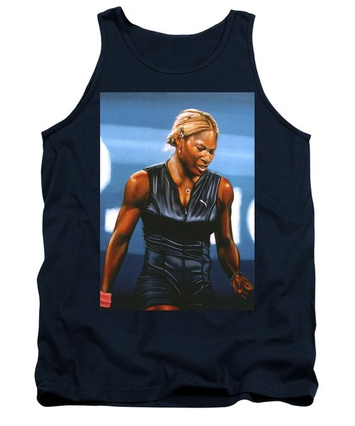 Serena Williams Tank Top by Paul Meijering