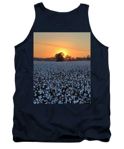 Sunset Over Cotton Tank Top