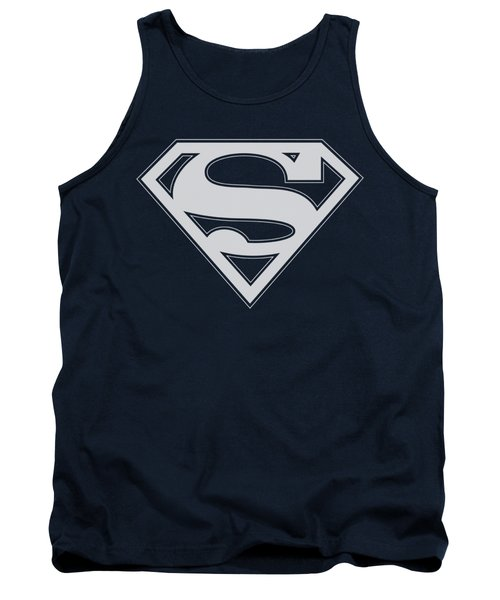 Superman - Navy And White Shield Tank Top