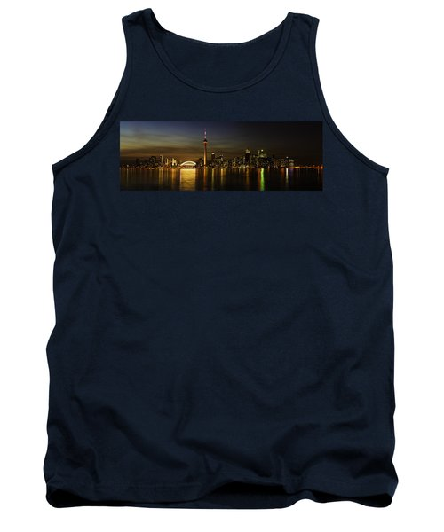 Toronto Evening Sky Line Panorama Tank Top