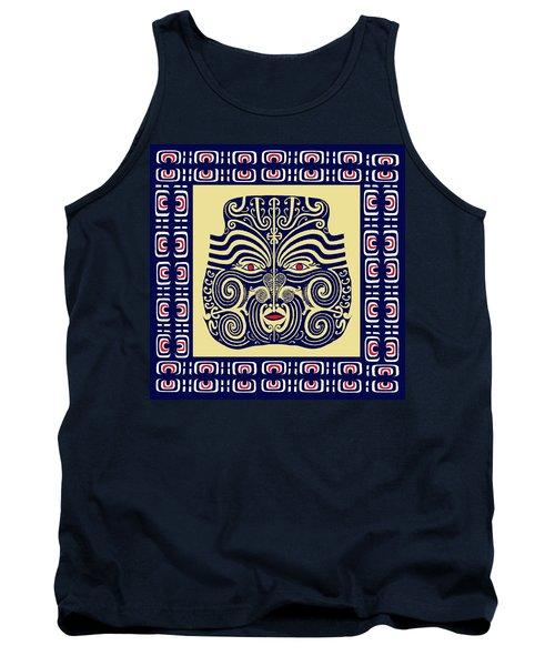 Marquesas Tribal Spirits Tank Top by Vagabond Folk Art - Virginia Vivier