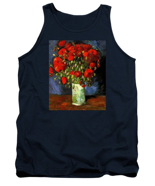 Vase With Red Poppies Tank Top