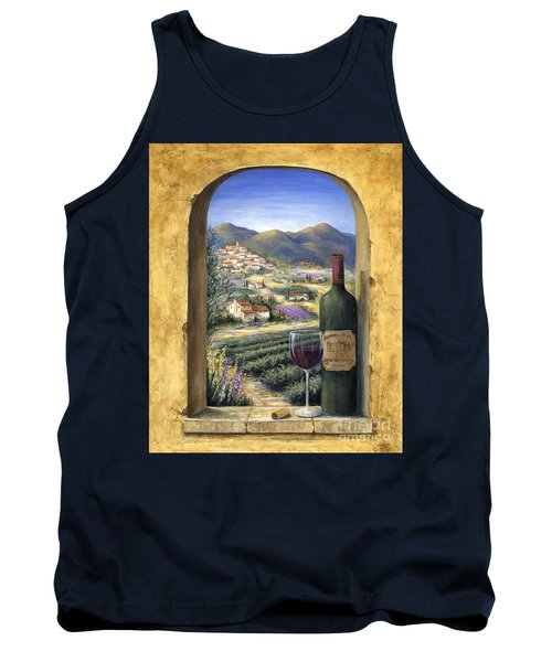 Wine And Lavender Tank Top